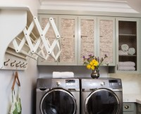 Wall mounted drying racks for laundry room with coat hooks ...