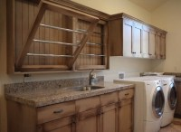 Wooden wall mounted drying racks for laundry room ...