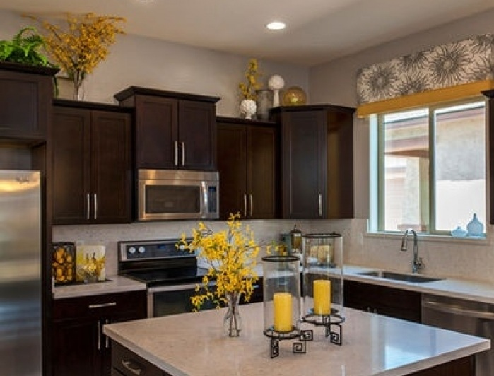 greenery above kitchen cabinets best cabinet cleaner ideas with decorative ...