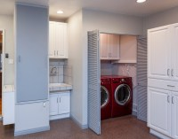 Laundry room in garage decorating ideas with folding ...