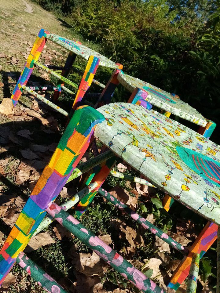 tables colorés et originales Sandrine Lapayre