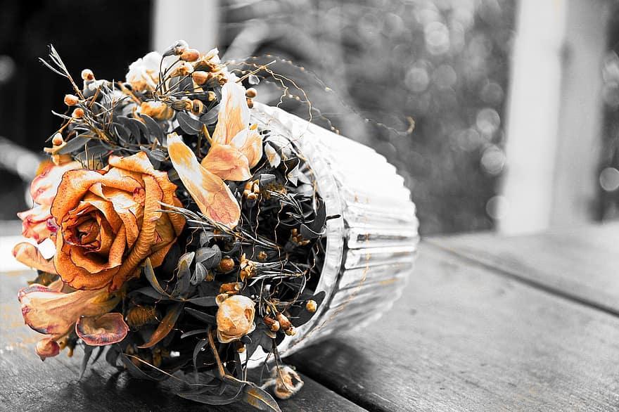 fleurs séchées