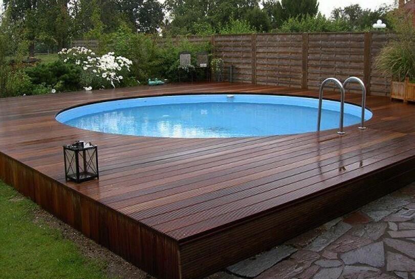 above ground pool ideas deck