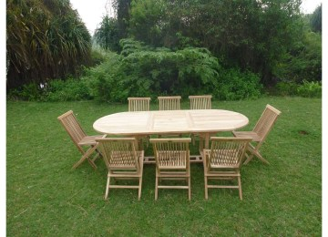 Table Jardin Teck Rallonge | Ensemble De Repas De Jardin Avec ...