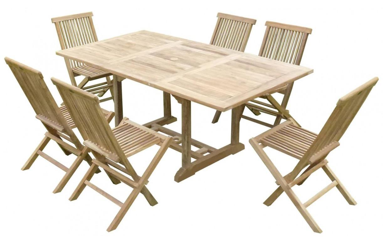 Table De Jardin Teck Massif | Table De Jardin Rectangulaire En Teck ...