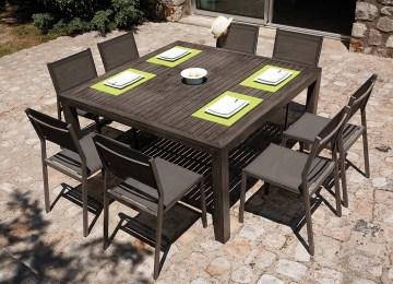 Table De Jardin Bois Carree   Alinea Table Carree Table Jardin Et ...