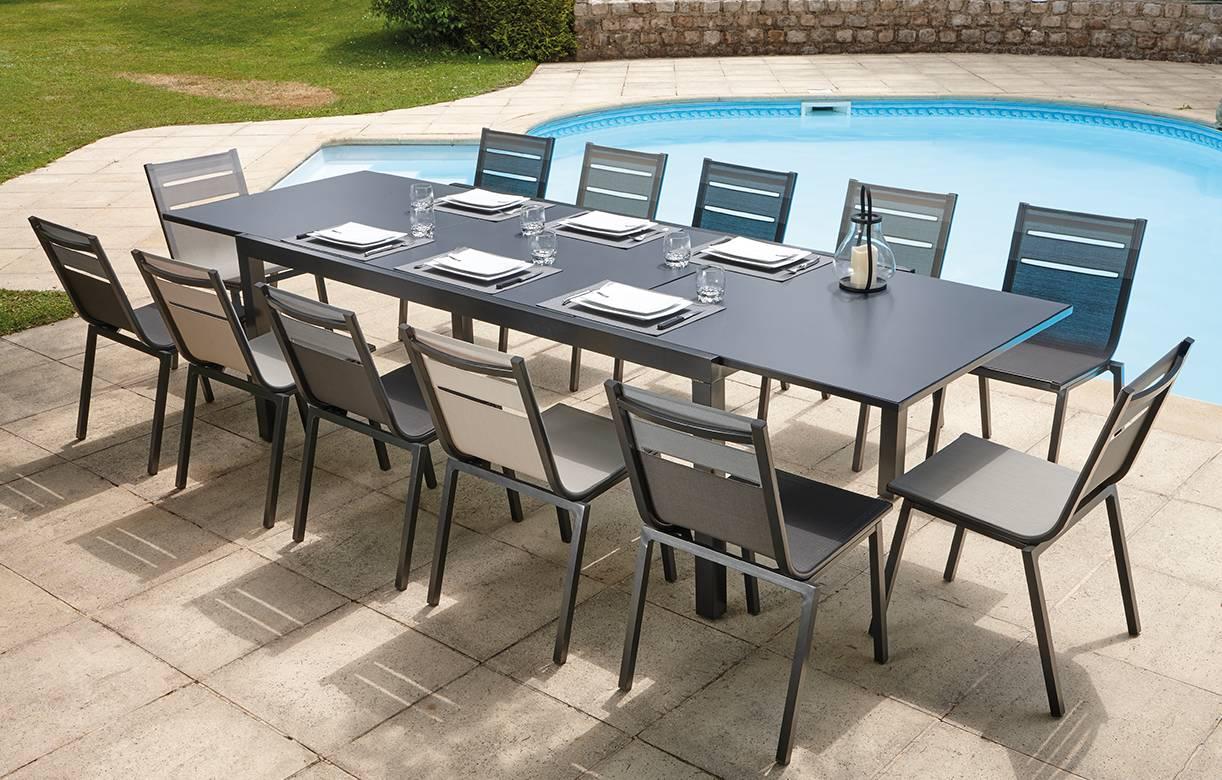 Emejing Table De Jardin Avec Rallonge Integree Images - House Design ...