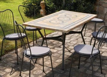 Table De Jardin Mosaique Marbre | Table Mosaique Exterieur Latest ...