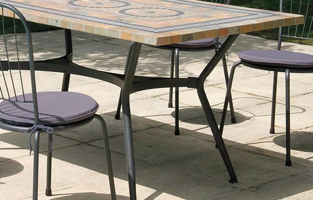 Grande Table Jardin Mosaique   Table Mosaïque Table Fer Forgé Votre ...