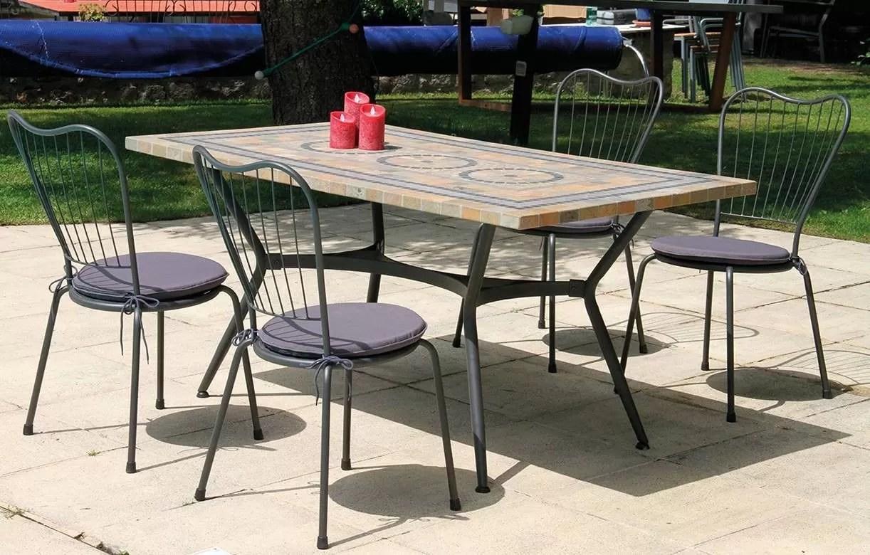 Table Ronde De Jardin Avec Mosaique | Table Jardin Mosaique Gallery ...