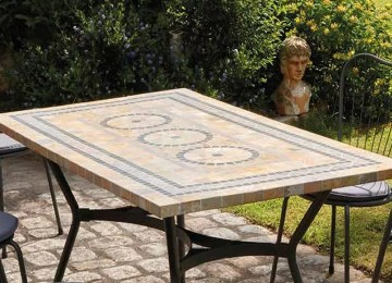 Table De Jardin Mosaique Marbre | Table Mosaique Exterieur Latest ...