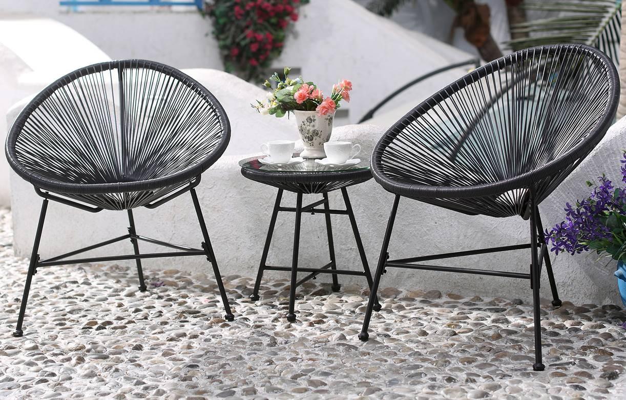 Salon De Jardin A Petit Noir Jura | Table De Jardin En Fer Salon De ...