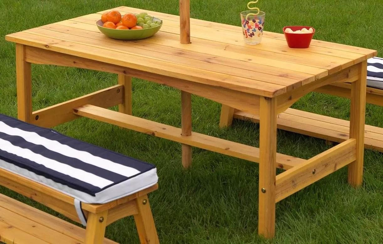 Table Et Banc De Jardin Design | Tables De Jardin En Bois Scierie Blondy