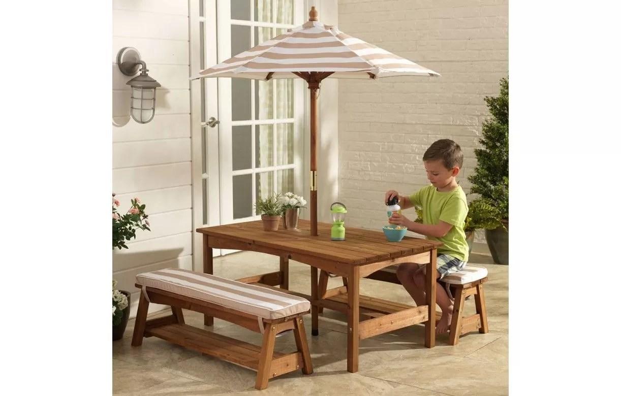 Table Avec Banc En Bois Pour Jardin