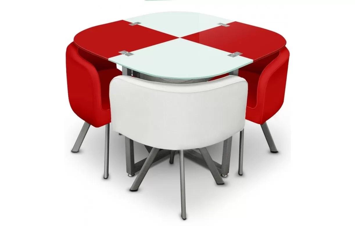 Table Avec 4 Chaises Encastrables   Table Et Chaise Encastrable ... a6a6ffe49eb4