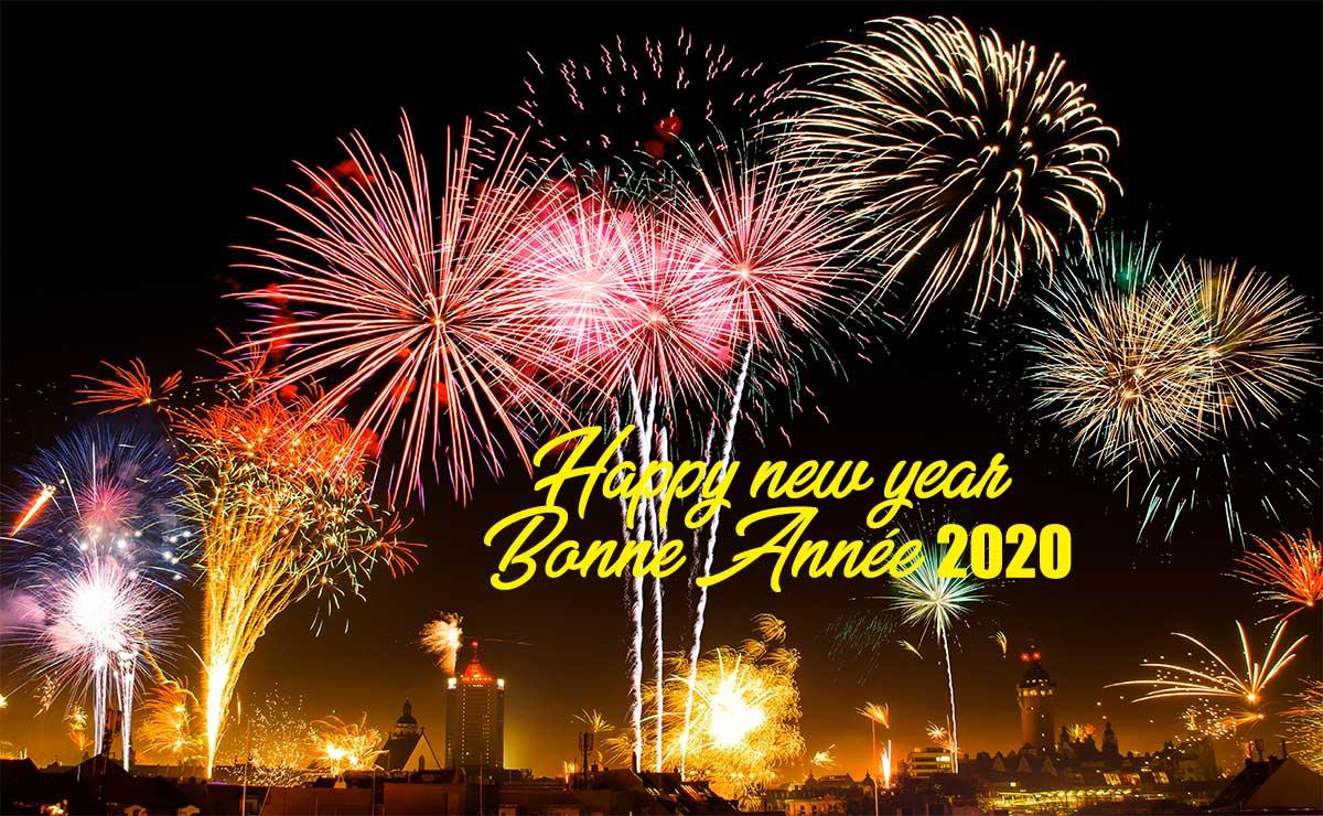 Happy new year, Bonne année 2020