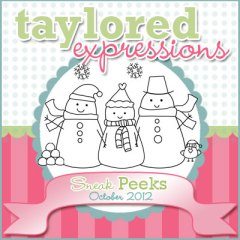 Taylored Expressions October 2012 Sneak Peeks