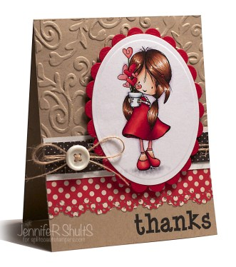 Thanks | handmade card | Jen Shults