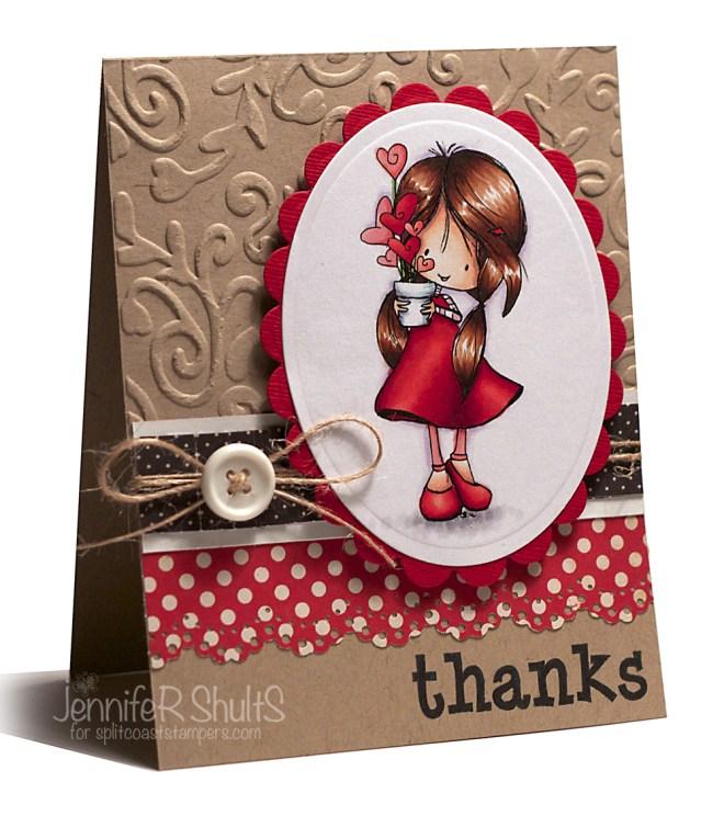 Thanks | handmade card | Jen Shults