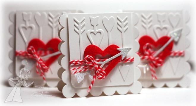 Cupid's Arrow Valentine, handmade card by Jen Shults