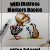 Distress Marker Watercoloring Basics Tutorial/TESC160