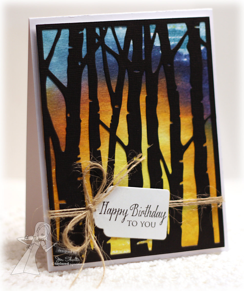 Taylored Expressions May Release Day: Birch Tree Cutting Plate