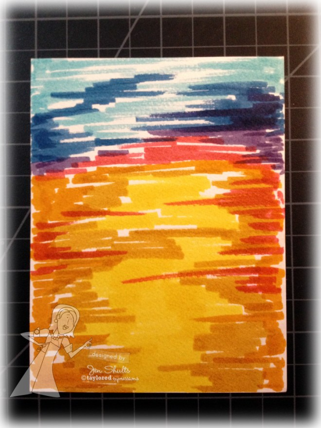 Distress Markers Sunset