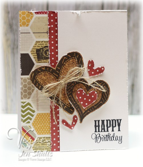 Happy Birthday by Jen Shults, Stamps by Verve