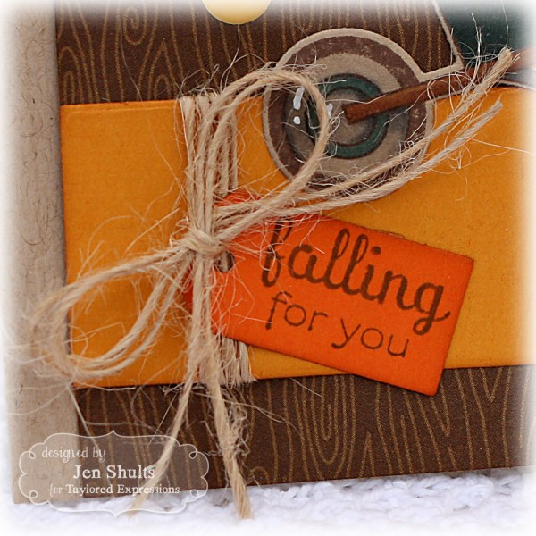 Falling For You by Jen Shults, Stamps by Taylored Expressions