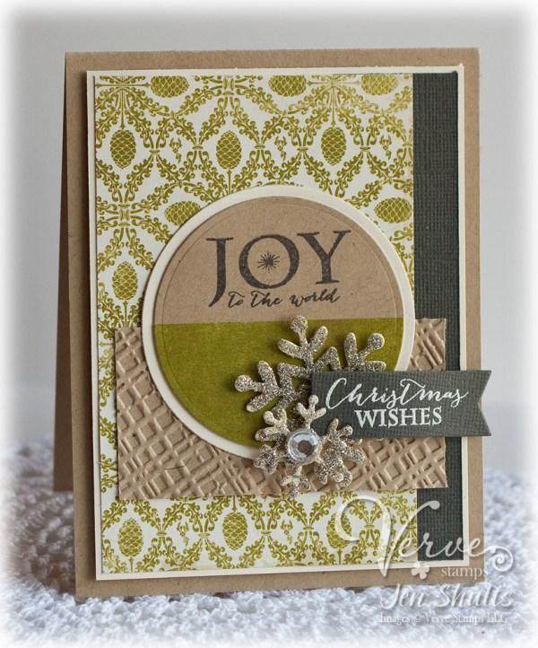 Joy To The World by Jen Shults, Stamps by Verve Stamps