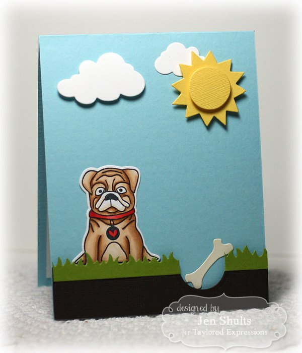 Boscoe by Jen Shults, stamps and dies from Taylored Expressions