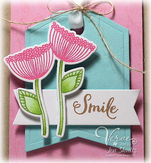 Smile by Jen Shults, stamps and dies from Verve Stamps and Reverse Confetti
