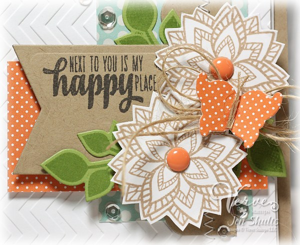 Happy Place by Jen Shults using DS159 and stamps and dies from Verve stamps