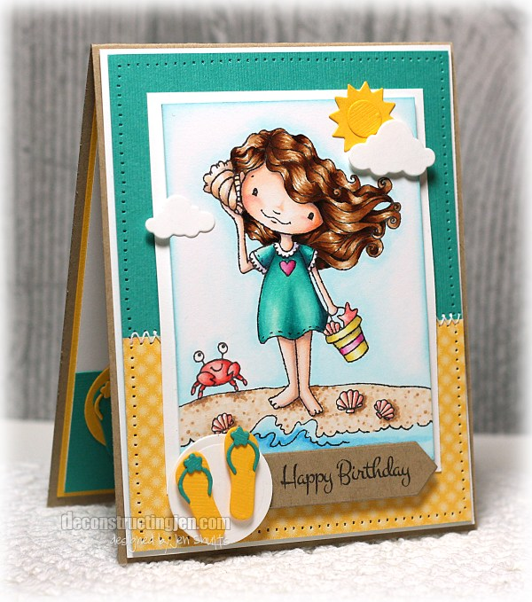 Happy Birthday by Jen Shults, Stamps from Sugar Pea Designs