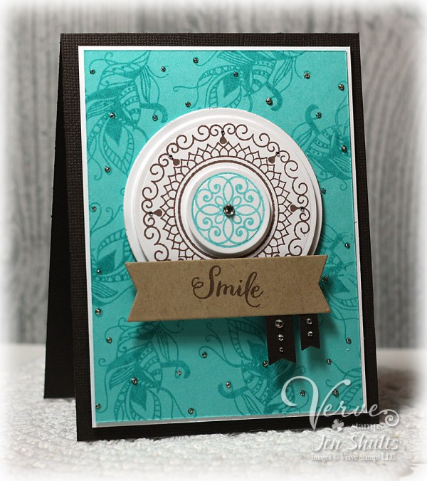 Smile by Jen Shults using Verve Stamps and dies