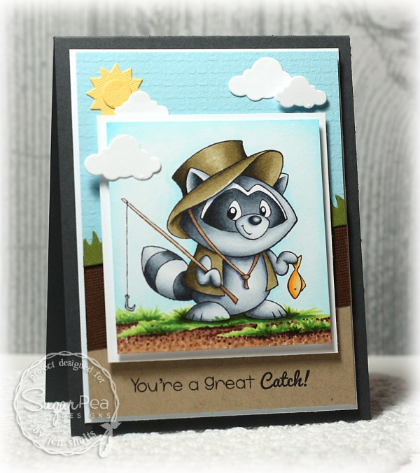 A Great Catch by Jen Shults, Stamps by Sugar Pea Designs, SPDSS07