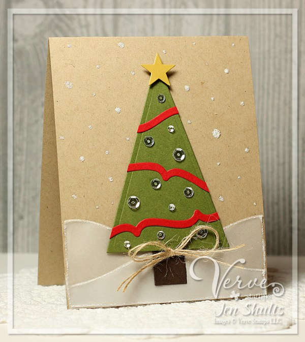 O Christmas Tree, handmade card by Jen Shults