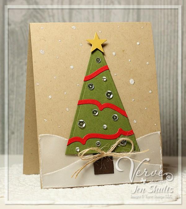 O Christmas Tree, handmade card by Jen Shults