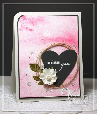 Miss You by Jen Shults, handmade card