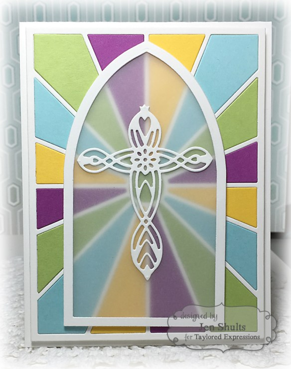 Stained Glass Window by Jen Shults, handmade card