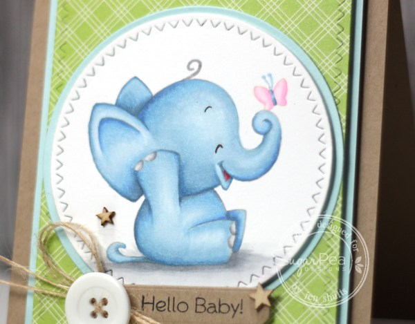 Hello Baby (boy) handmade card by Jen Shults