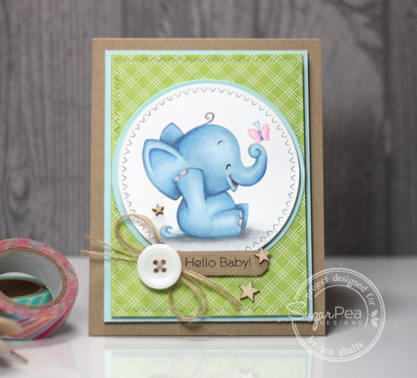 Hello Baby (boy) handmade card by Jen Shults