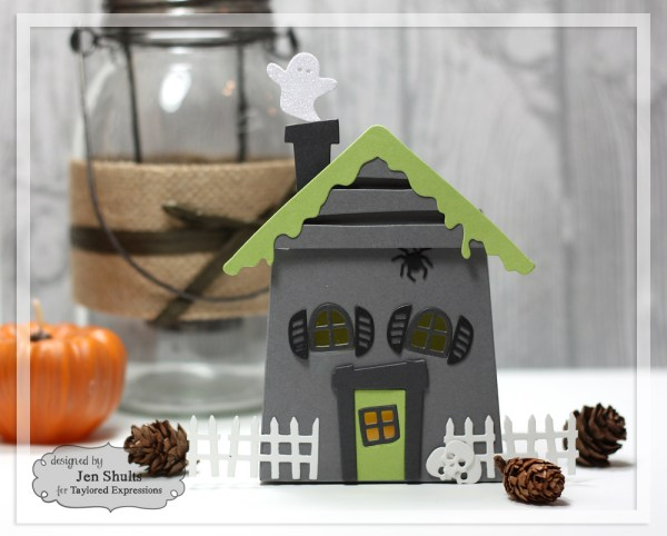 Haunted House Votive Holder by Jen Shults