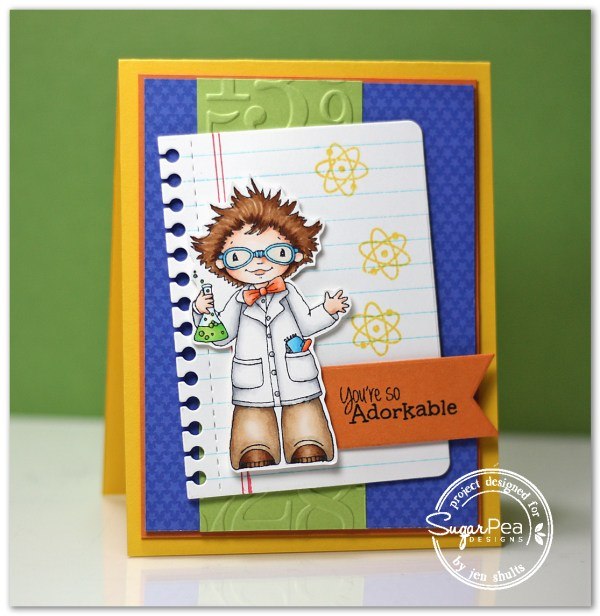 So Adorkable by Jen Shults, stamps by SugarPea Designs