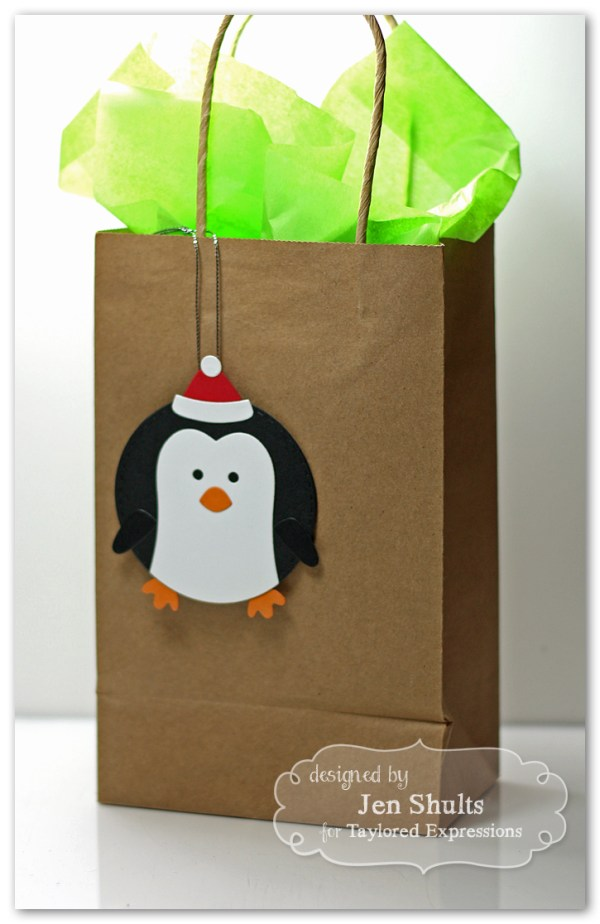Penguin Gift Tag by Jen Shults