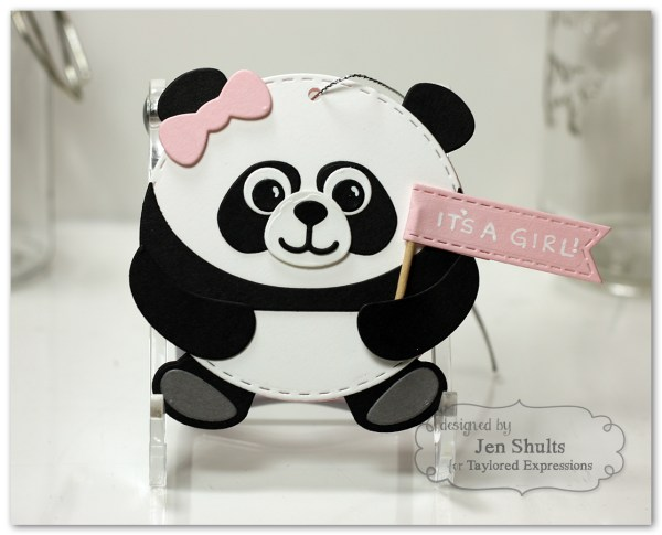 Roly Poly Panda card and tag set by Jen Shults
