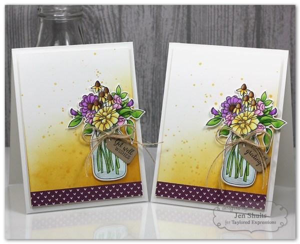 Wildflower Bouquet Card Gift Set by Jen Shults