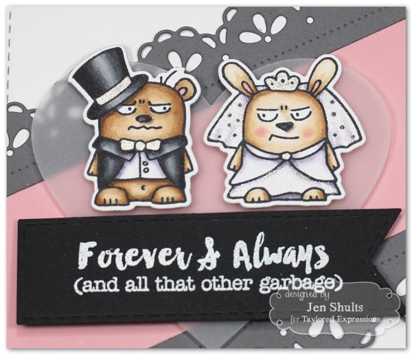 Forever & Always by Jen Shults #handmade #handmadecard #tayloredexpressions