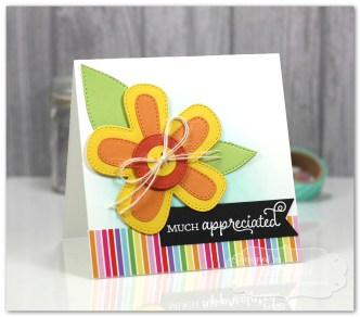 Much Appreciated handmade card, Taylored Expressions dies and stamps
