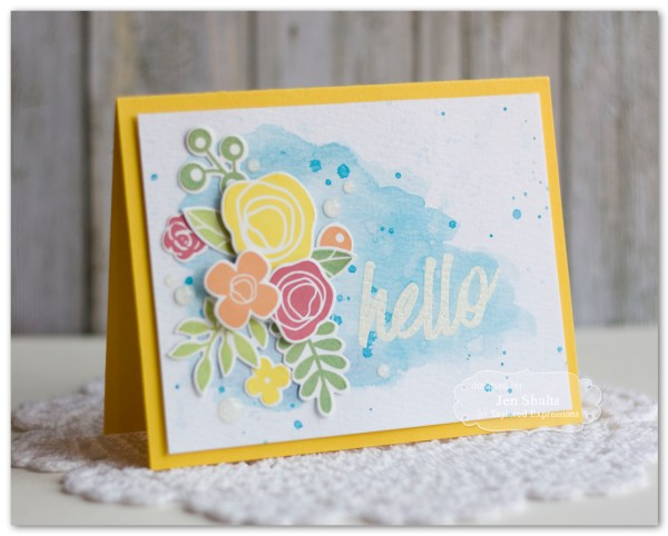 Hello Friend by Jen Shults, stamps and dies from Taylored Expressions